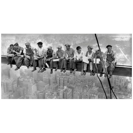 NEW YORK CONSTRUCTION WORKERS LUNCHING ON A CROSSBEAM, 1932 (DETAIL)