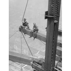 WORKERS SITTING ON STEEL BEAM, 1926