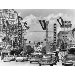 CASINO SIGNS ALONG LAS VEGAS STREET, CA. 1954