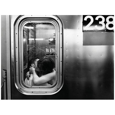 KISSING IN A SUBWAY CAR