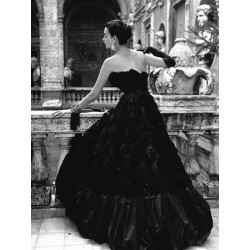 BLACK EVENING DRESS, ROMA 1952 (DETAIL)