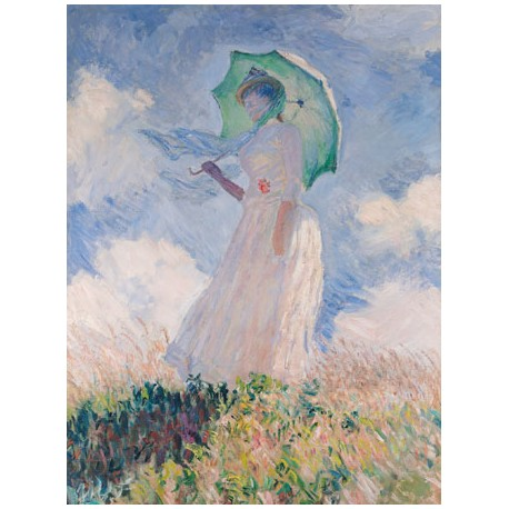 WOMAN WITH PARASOL (LEFT)