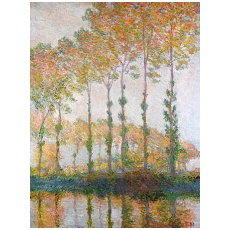 POPLARS ON THE BANKS OF THE L'EPTE, AUTUMN