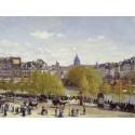 LE QUAI DU LOUVRE A PARIS EN 1867