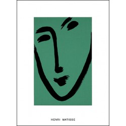 FACE ON GREEN BACKGROUND, 1951