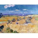 WHEAT FIELDS WITH REAPER, AUVERS