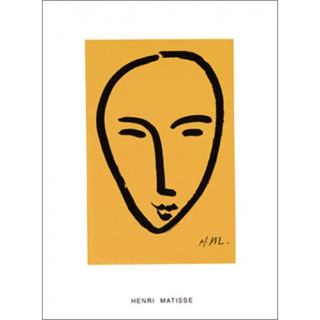 FACE ON YELLOW BACKGROUND, 1952