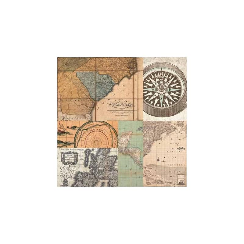 cuadros de mapas antiguos cahiers de voyage iv. Black Bedroom Furniture Sets. Home Design Ideas