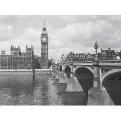 WESTMINSTER BRIDGE SHOWING BIG BEN, 1959