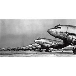 FLEET OF PASSENGER TRANSPORT PLANES, 1936 (DETAIL)