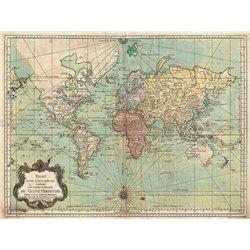 ESSAY D'UNE CARTE REDUITE DU GLOBE TERRESTRE, 1778
