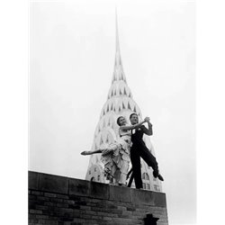 DANCING BY THE CHRYSLER BUILDING, 1930