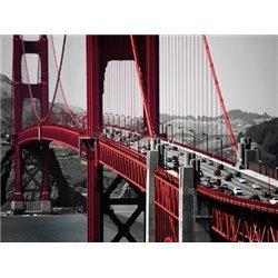 CARS CROSSING THE GOLDEN GATE BRIDGE, SAN FRANCISCO
