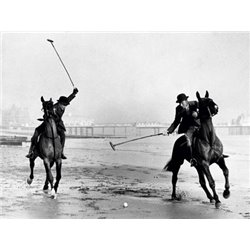 POLO PLAYERS BY THE SEA, 1935