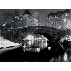 BRIDGE IN CENTRAL PARK, NYC, 1957