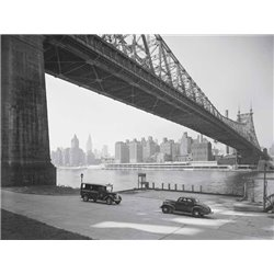 QUEENSBORO BRIDGE ACROSS THE EAST RIVER, NYC
