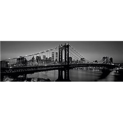 MANHATTAN BRIDGE AND SKYLINE