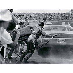 STOCK CAR IN PIT STOP, DAYTONA, FLORIDA 1974