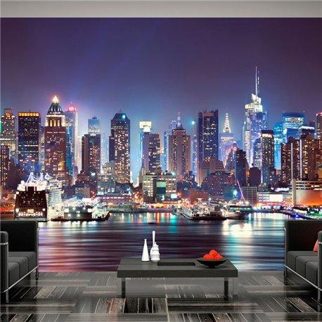 Fotomural Night in New York City