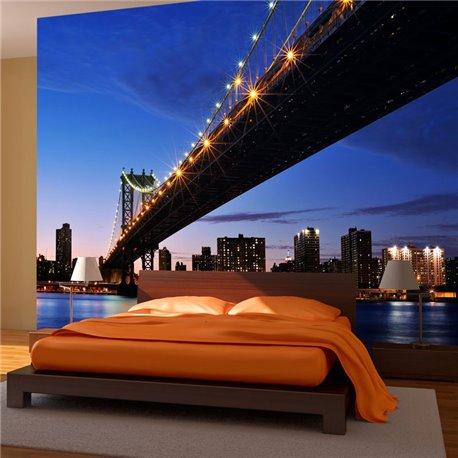 Fotomural Puente Brooklyn Iluminado