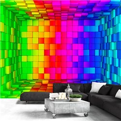 Fotomural Rainbow Cube