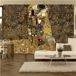 Fotomural Klimt, El Beso (dorado)