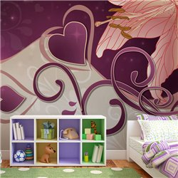 Fotomural Lila en colores violeta