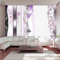 Fotomural Desfile de orquídeas en violeta