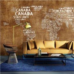 Fotomural Mapa en Italiano