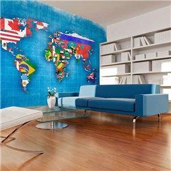 Fotomural Banderas del Mundo