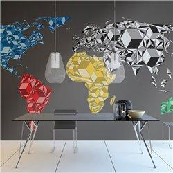 Fotomural Mapa del Mundo 3D