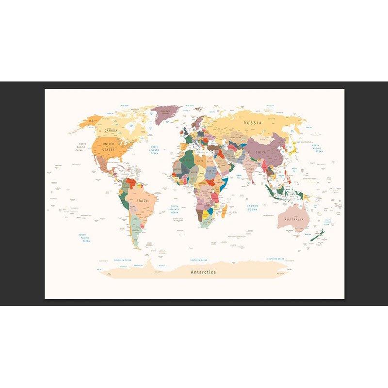 Murales paredes mapas paises Mapamundi Poltico  A12XLFT243
