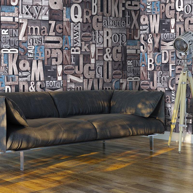 Foto murales letras de madera 3d - Murales de madera ...