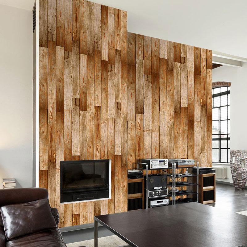 Foto murales revestimiento madera decapada - Murales de madera ...