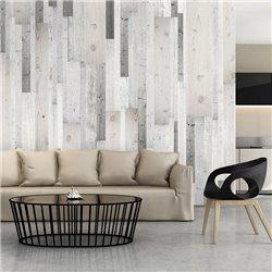 Fotomural Madera Blanca Y Decorativa