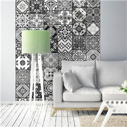 Fotomural Azulejos Blanco Y Negro