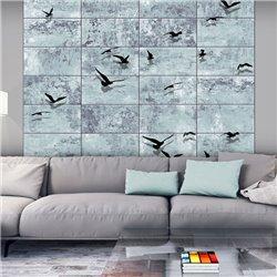 Fotomural Pájaros En El Muro