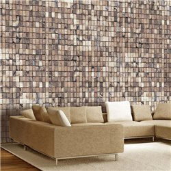 Fotomural Mosaico De Ladrillos