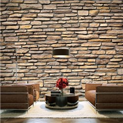 Fotomural Muro De Piedra Natural
