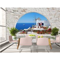 Fotomural Santorini View