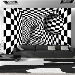 Fotomural Black & White 3D