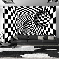 Fotomural Black & White 3D