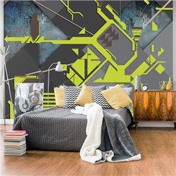 Fotomural Abstracto Geométrico Verde