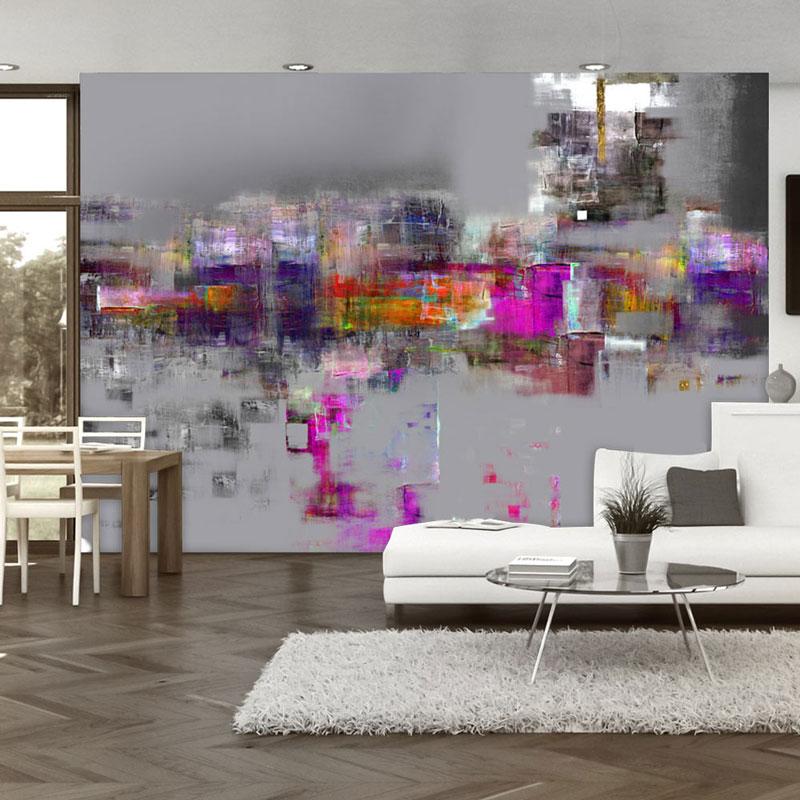 Fotomurales abstractos para sal n de dise o el sue o de - Fotomurales para salon ...