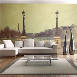 Fotomural Bonita Estampa de París, efecto Vintage
