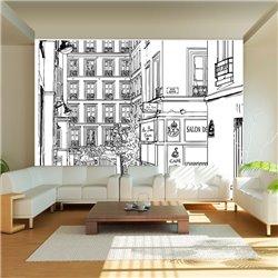 Fotomural Dibujos de Calles Parisinas