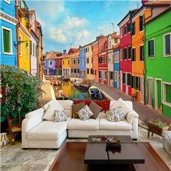 Fotomural Canal de Burano, Venecia