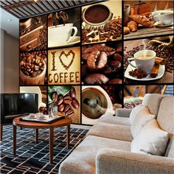 Fotomural Collage del Café