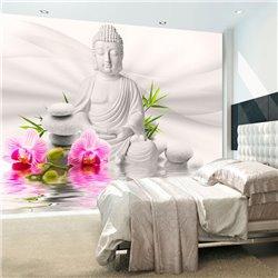 Fotomural Buda y Orquídeas estilo Zen