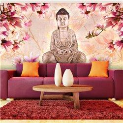 Fotomural Buda con Magnolias